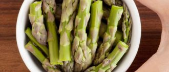 Woman asparagus
