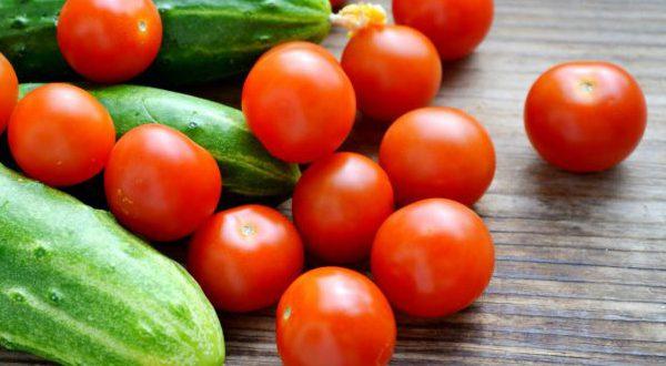Огурец помидор